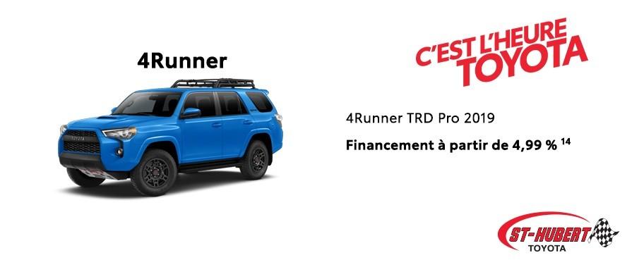 St-Hubert Toyota Heure Toyota 4Runner TRD Pro 2019 Novembre 2019