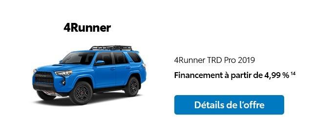 St-Hubert Toyota Promotion Novembre 2019 4Runner TRD Pro 2019