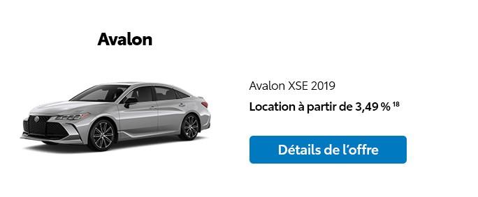 St-Hubert Toyota Promotion Novembre 2019 Avalon XSE 2019