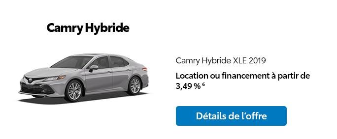 St-Hubert Toyota Promotion Novembre 2019 Camry Hybride XLE 2019