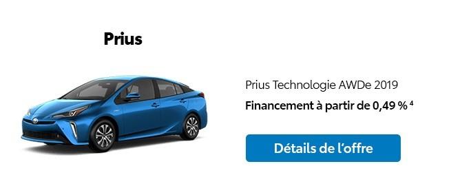St-Hubert Toyota Promotion Novembre 2019 Prius Technologie AWDe 2019