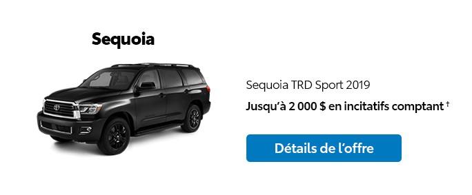 St-Hubert Toyota Promotion Novembre 2019 Sequoia TRD Sport 2019