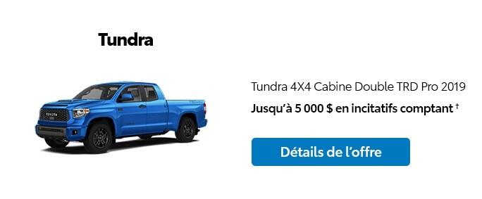 St-Hubert Toyota Promotion Novembre 2019 Tundra 4x4 DoubleCab TRD Pro 2019