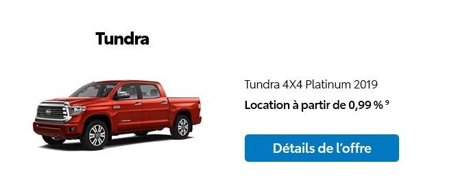 St-Hubert Toyota Promotion Novembre 2019 Tundra 4x4 Platinum 2019