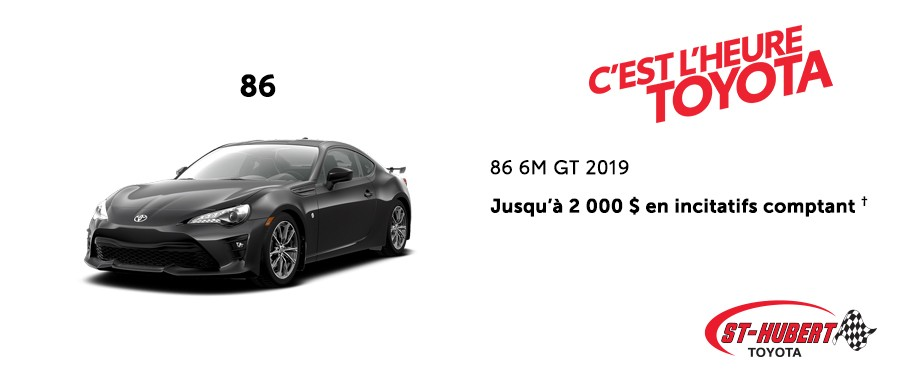 St-Hubert Toyota Heure Toyota 86 6M GT 2019 Janvier 2020