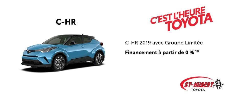 St-Hubert Toyota Heure Toyota C-HR 2019 Janvier 2020