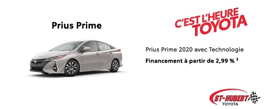 St-Hubert Toyota Heure Toyota Prius Prime 2020 Janvier 2020