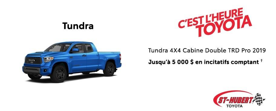 St-Hubert Toyota Heure Toyota Tundra 4x4 DoubleCab TRD Pro 2019 Janvier 2020