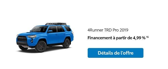 St-Hubert Toyota Promotion Janvier 2020 4Runner TRD Pro 2019