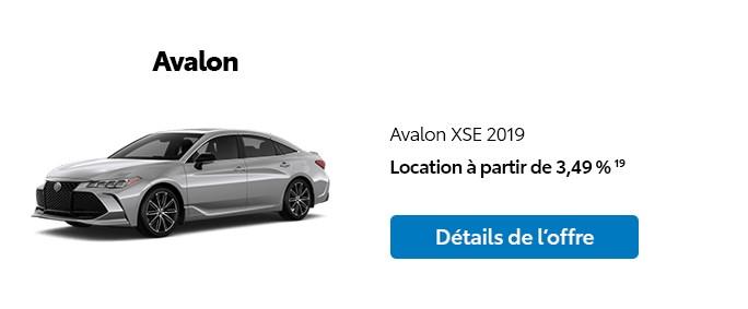 St-Hubert Toyota Promotion Janvier 2020 Avalon XSE 2019