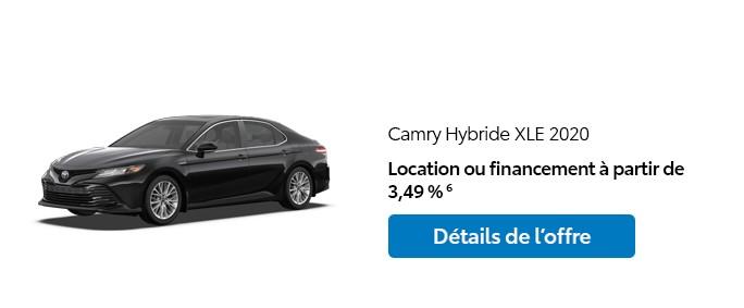 St-Hubert Toyota Promotion Janvier 2020 Camry Hybride XLE 2020