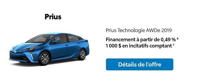 St-Hubert Toyota Promotion Janvier 2020 Prius Technologie AWDe 2019