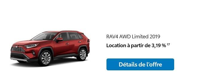 St-Hubert Toyota Promotion Janvier 2020 RAV4 AWD Limited 2019