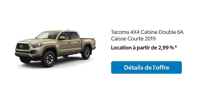 St-Hubert Toyota Promotion Janvier 2020 Tacoma 4x4 DoubleCab SB 2019
