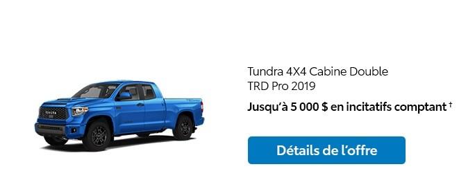 St-Hubert Toyota Promotion Janvier 2020 Tundra 4x4 DoubleCab TRD Pro 2019