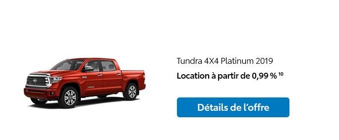 St-Hubert Toyota Promotion Janvier 2020 Tundra 4x4 Platinum 2019