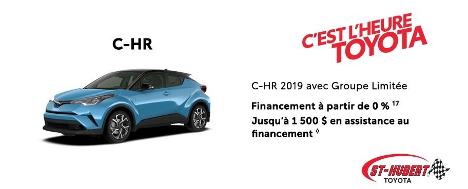St-Hubert Toyota Heure Toyota C-HR 2019 Mars 2020