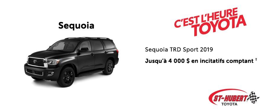St-Hubert Toyota Heure Toyota Sequoia TRD Sport 2019 Mars 2020