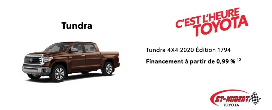 St-Hubert Toyota Heure Toyota Tundra 4x4 2020 Édition 1794 Mars 2020