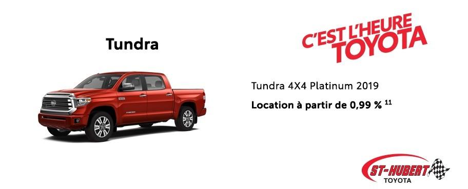 St-Hubert Toyota Heure Toyota Tundra 4x4 Platinum 2019 Mars 2020