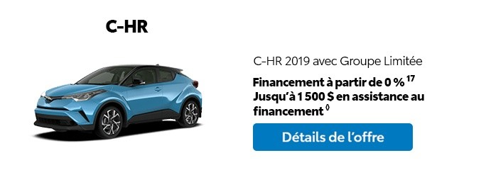 St-Hubert Toyota Promotion Mars 2020 C-HR 2019