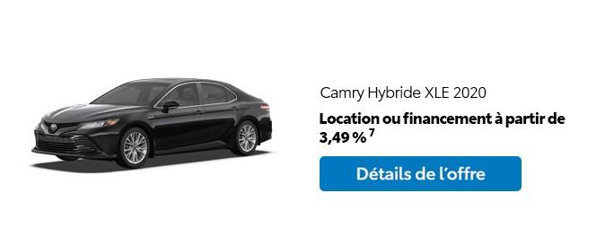 St-Hubert Toyota Promotion Mars 2020 Camry Hybride XLE 2020