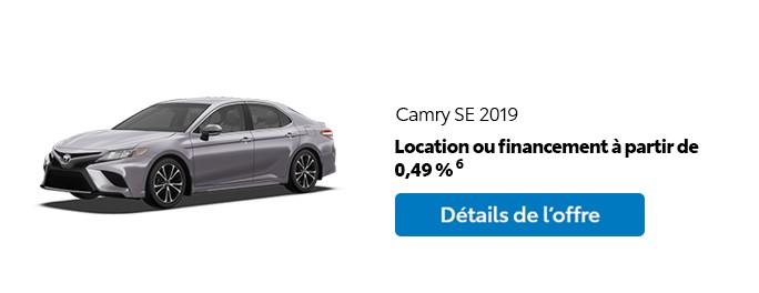 St-Hubert Toyota Promotion Mars 2020 Camry SE 2019