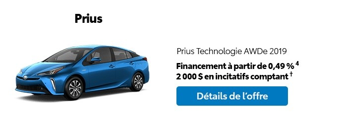 St-Hubert Toyota Promotion Mars 2020 Prius Technologie AWDe 2019