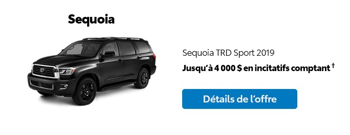 St-Hubert Toyota Promotion Mars 2020 Sequoia TRD Sport 2019