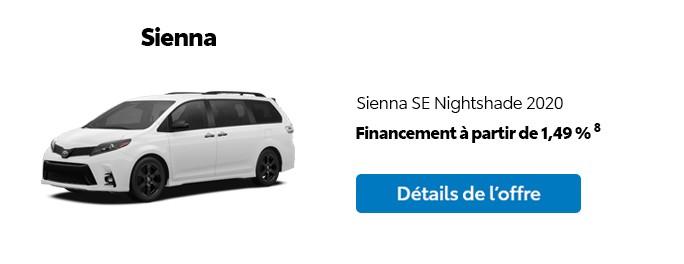 St-Hubert Toyota Promotion Mars 2020 Sienna SE Nightshade 2020