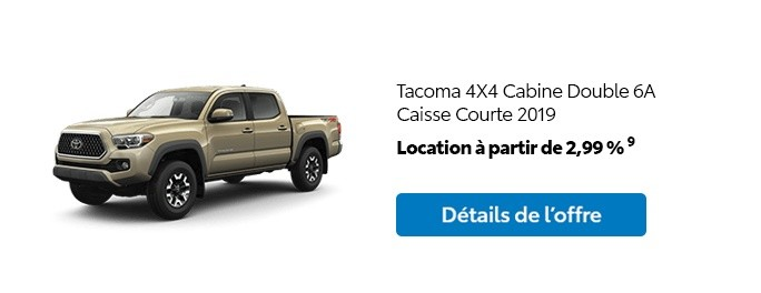 St-Hubert Toyota Promotion Mars 2020 Tacoma 4x4 DoubleCab SB 2019