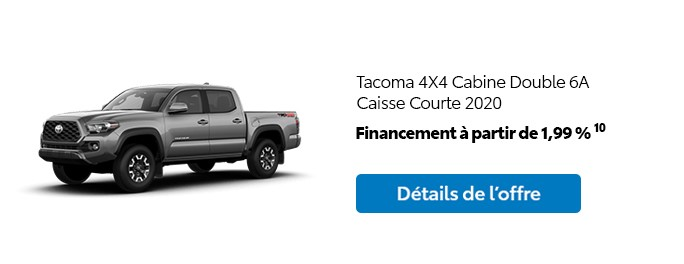 St-Hubert Toyota Promotion Mars 2020 Tacoma 4x4 DoubleCab SB 2020