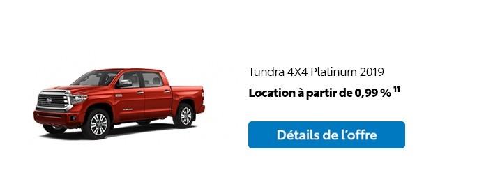 St-Hubert Toyota Promotion Mars 2020 Tundra 4x4 Platinum 2019