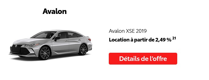 St-Hubert Toyota Promotion Mai 2020 Avalon XSE 2019