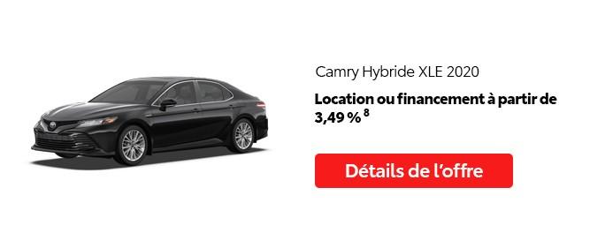 St-Hubert Toyota Promotion Mai 2020 Camry Hybride XLE 2020