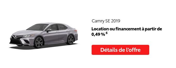 St-Hubert Toyota Promotion Mai 2020 Camry SE 2019