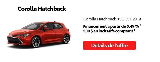 St-Hubert Toyota Promotion Mai 2020 Corolla Hatchback XSE CVT 2019