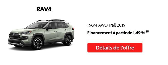 St-Hubert Toyota Promotion Mai 2020 RAV4 AWD Trail 2019