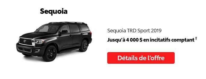 St-Hubert Toyota Promotion Mai 2020 Sequoia TRD Sport 2019