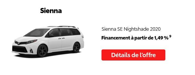 St-Hubert Toyota Promotion Mai 2020 Sienna SE Nightshade 2020