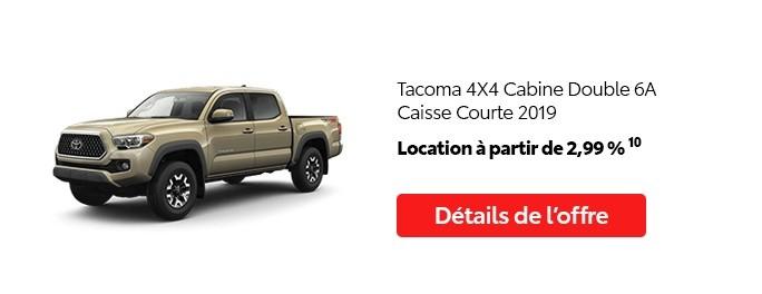 St-Hubert Toyota Promotion Mai 2020 Tacoma 4x4 DoubleCab SB 2019