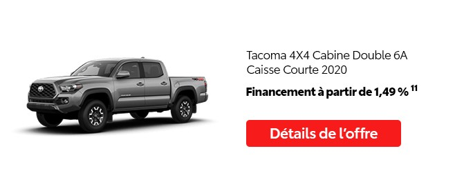 St-Hubert Toyota Promotion Mai 2020 Tacoma 4x4 DoubleCab SB 2020