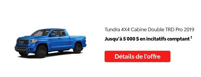 St-Hubert Toyota Promotion Mai 2020 Tundra 4x4 DoubleCab TRD Pro 2019