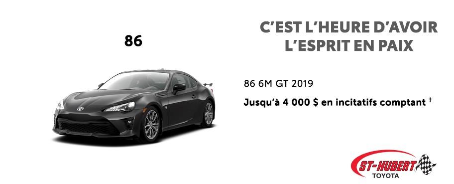 St-Hubert Toyota C'est l'heure d'avoir l'esprit en paix 86 6M GT 2019 Juin 2020