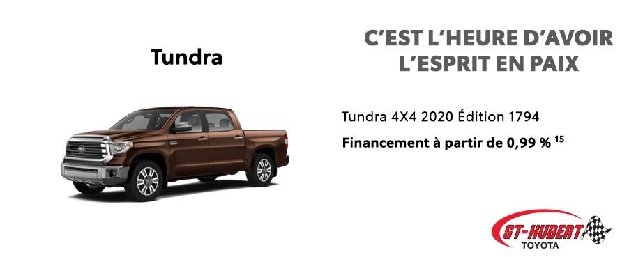 St-Hubert Toyota C'est l'heure d'avoir l'esprit en paix Tundra 4x4 2020 Édition 1794 Juillet 2020