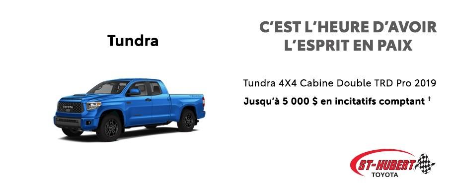 St-Hubert Toyota C'est l'heure d'avoir l'esprit en paix Tundra 4x4 DoubleCab TRD Pro 2019 Juillet 2020