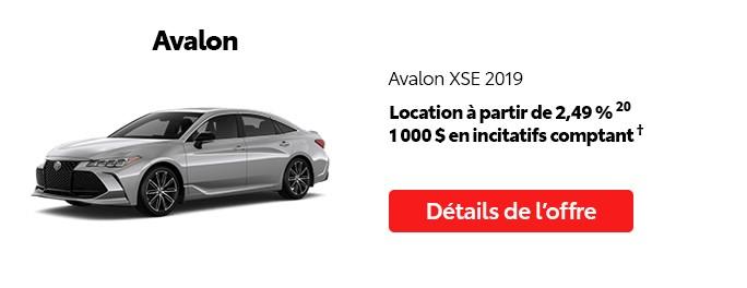 St-Hubert Toyota Promotion Juillet 2020 Avalon XSE 2019