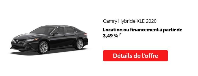 St-Hubert Toyota Promotion Juillet 2020 Camry Hybride XLE 2020