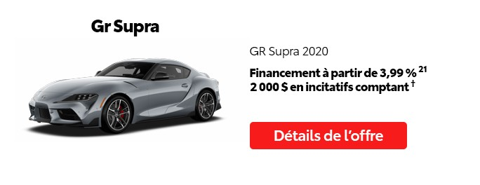 St-Hubert Toyota Promotion Juillet 2020 GR Supra 2020