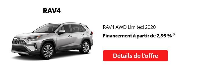 St-Hubert Toyota Promotion Juillet 2020 RAV4 AWD Limited 2020